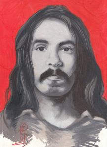 richard chase serial killer portrait painting