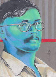 ed kemper serial killer portrait painting