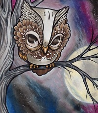 """He's done in watercolor AND pencil. The original is sold, and the buyer was greedy enough to insist only a handful of prints be made. I only have like, six prints left. I feel like I should do more night skies, this was fun. 16x20"""" on hotpress."""